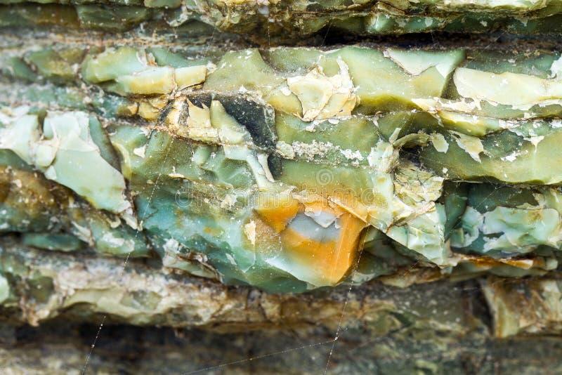Chert ablegruje zbliżenie przy tęczy skałą, Oregon obrazy stock