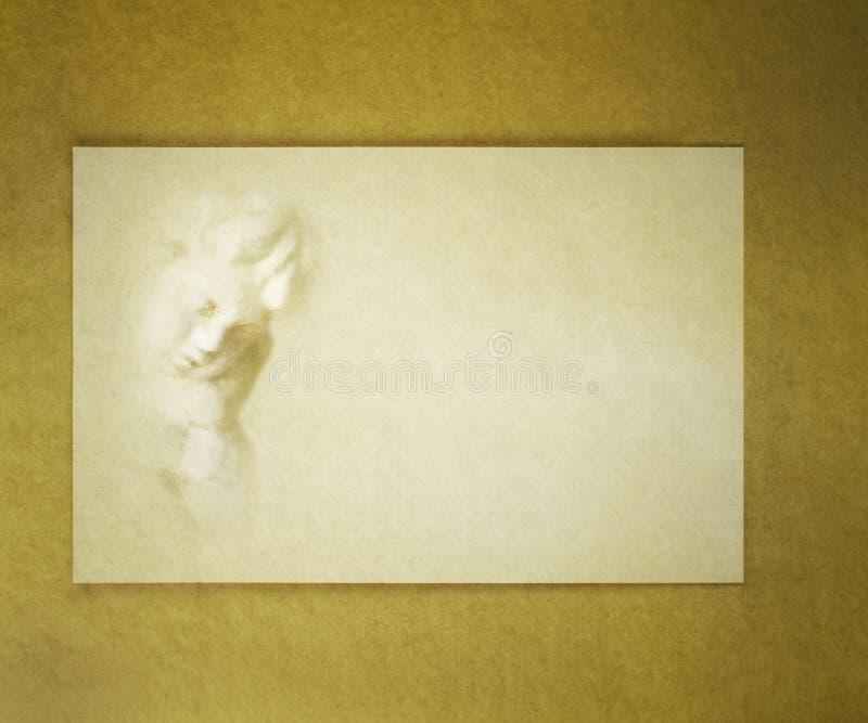 Download Cherub do cartão de letra foto de stock. Imagem de dourado - 26517672