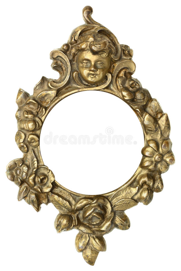 Cherub Gold Picture Frame stock photography