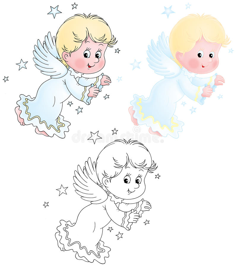 cherub little vektor illustrationer