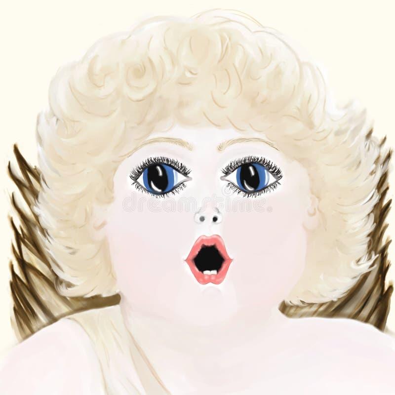 Cherubijn - Pastelkleur royalty-vrije stock foto's