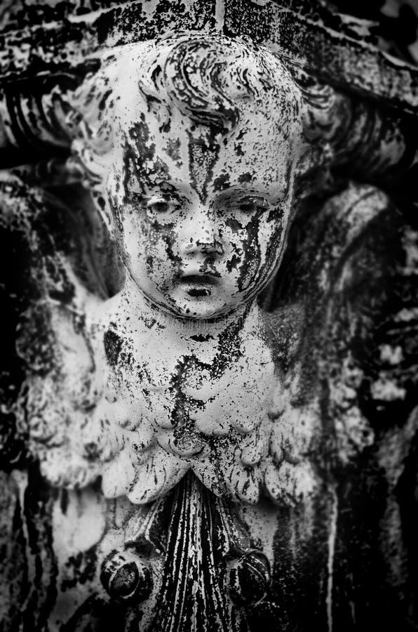 Cherubino antico di angelo fotografie stock