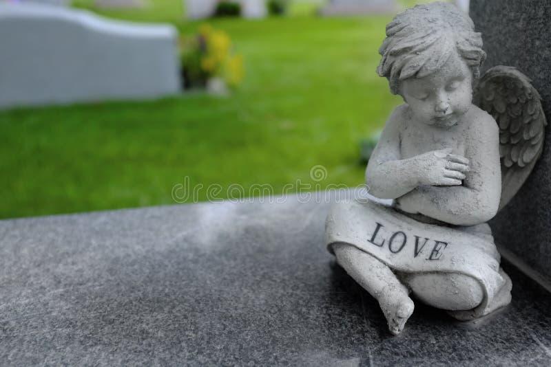 Cherubino antico di angelo fotografia stock