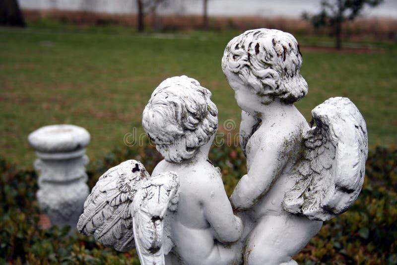 cherubsträdgård arkivfoton