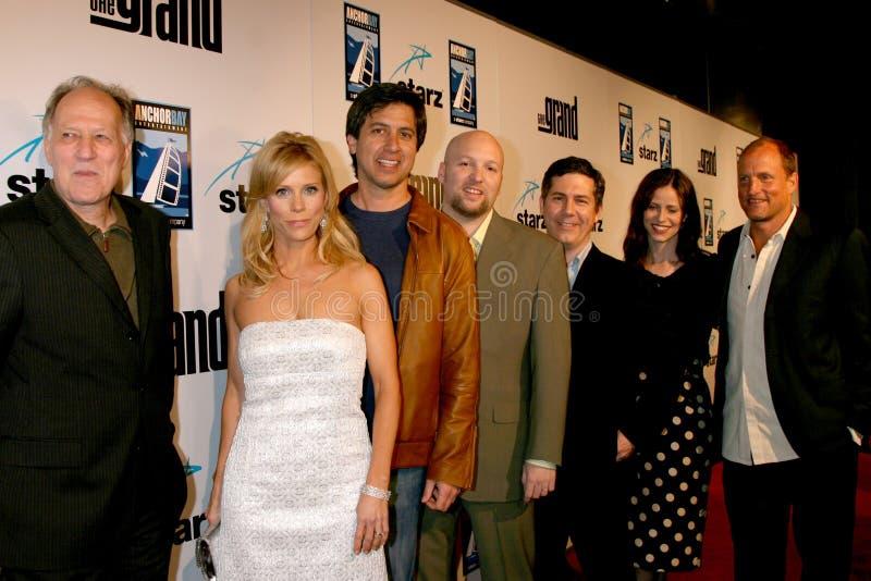 Cheryl Hines, Chris Parnell, romano da raia, Werner Herzog, Zak Penn fotos de stock royalty free