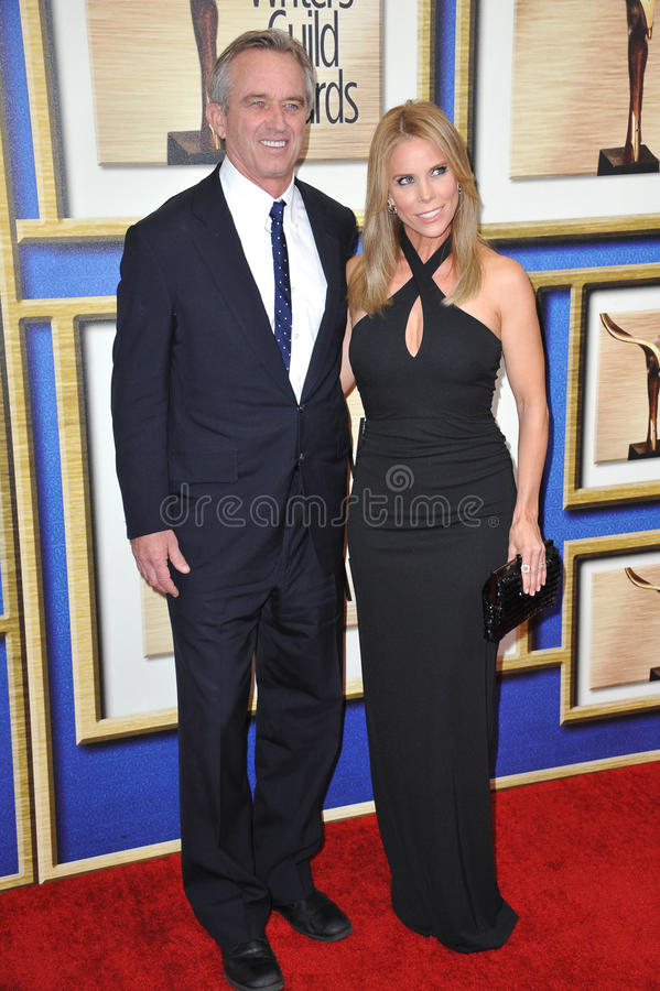 Cheryl Hines & Robert F Kennedy Jr royalty-vrije stock fotografie