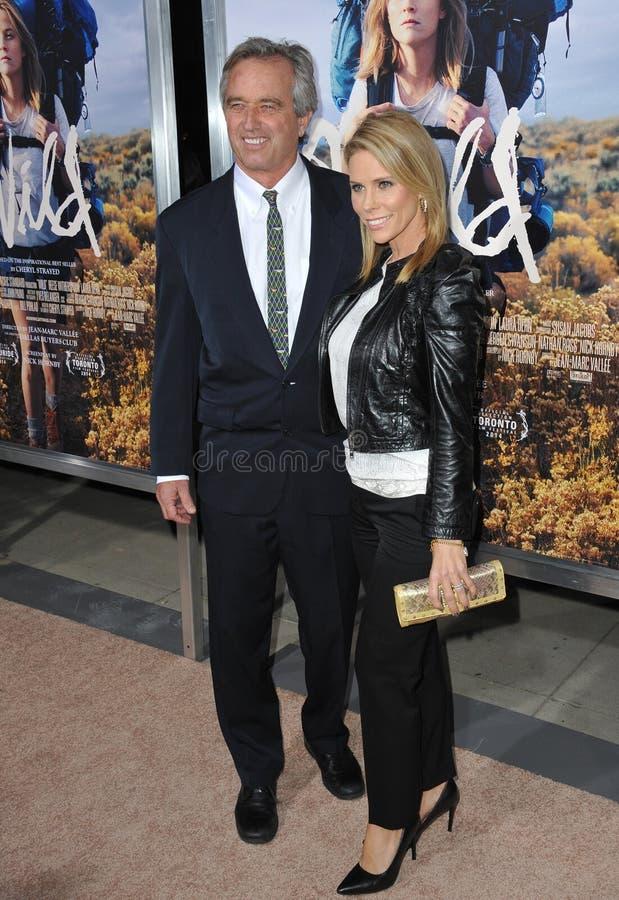 Cheryl Hines & Robert Kennedy Jr stock foto's
