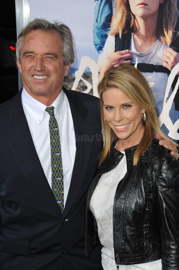 Cheryl Hines & Robert Kennedy Jr stock afbeelding