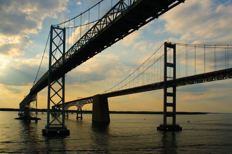 chesapeake γεφυρών κόλπων δίδυμο στοκ φωτογραφία με δικαίωμα ελεύθερης χρήσης