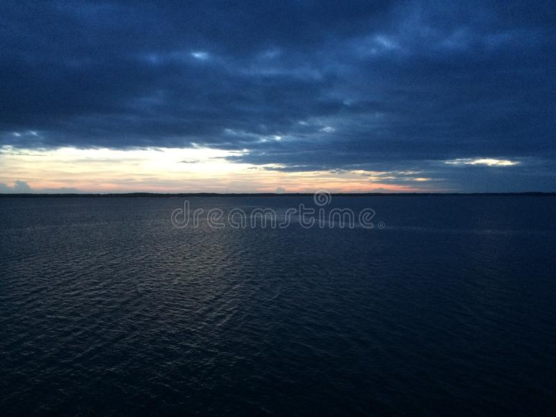 Chesapeake Bay-Sonnenuntergang stockbild