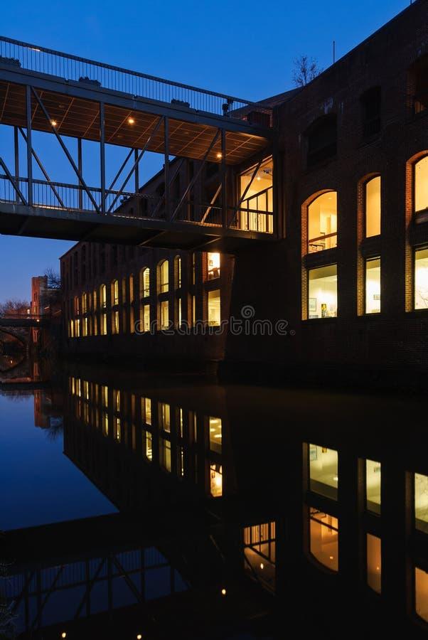 Chesapeake e canale dell'Ohio a Georgetown a tempo crepuscolare, Washington D C immagini stock