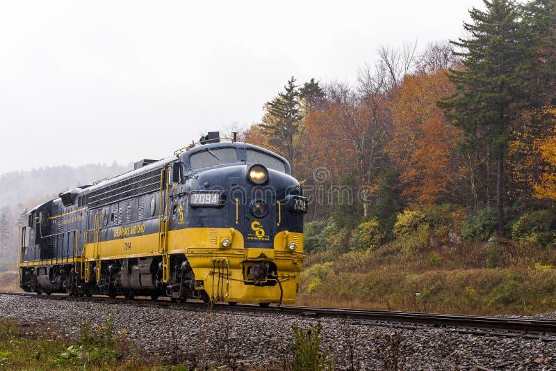 Chesapeake e locomotiva ristabiliti della ferrovia dell'Ohio - Virginia Occidentale immagini stock