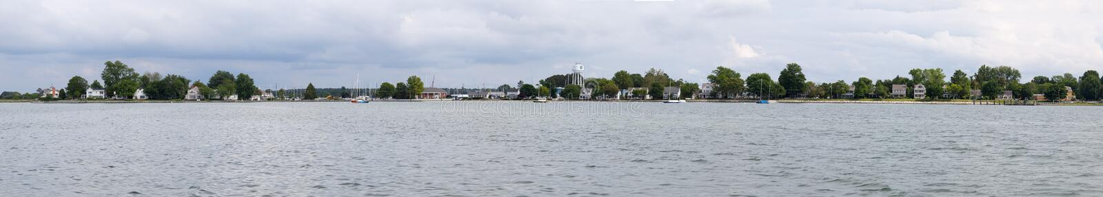 chesapeake Maryland Oxford panorama fotografia royalty free