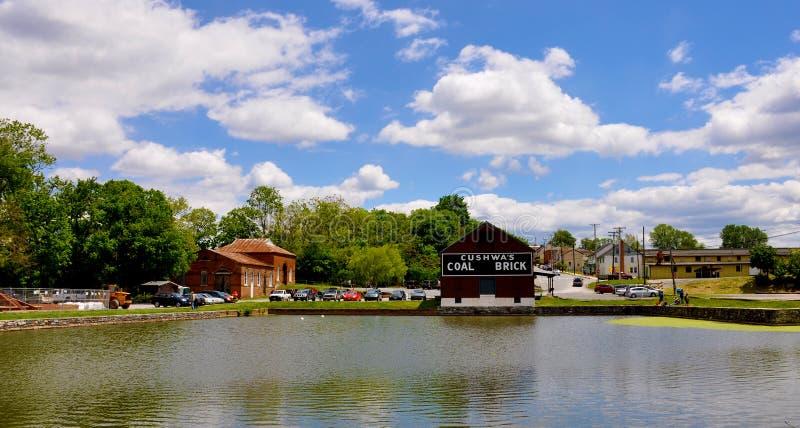 Chesapeake och Ohio Canal, Williamsport, MD royaltyfria bilder