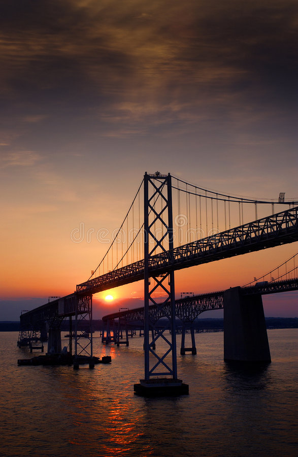 Chesapeake-Schacht-Brücke lizenzfreie stockfotos