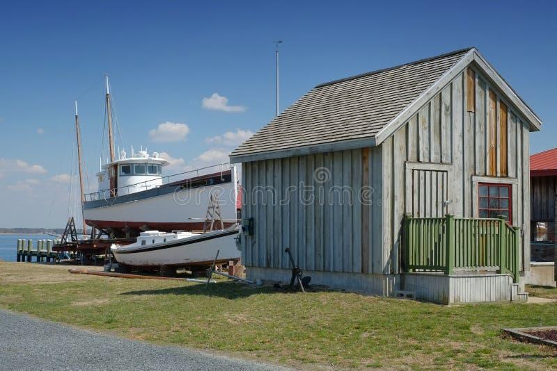 Chesapeake zatoki łodzi budowniczowie fotografia royalty free