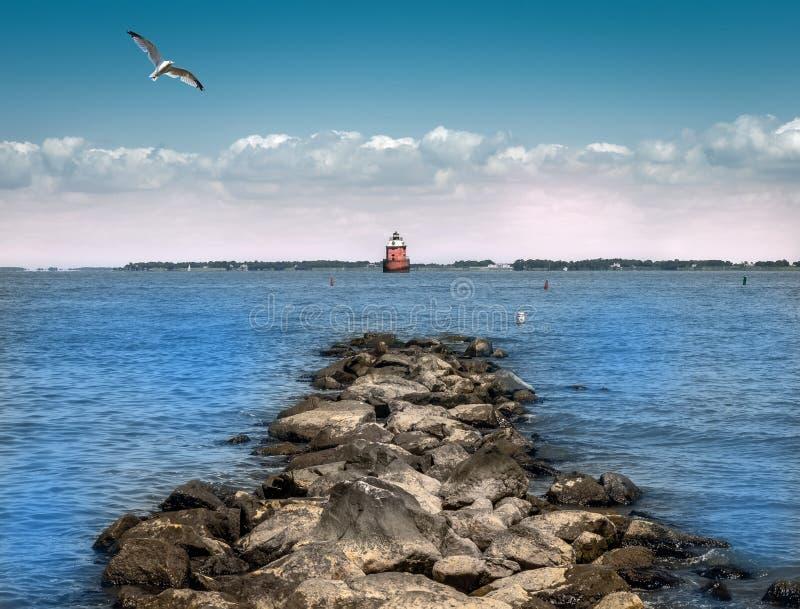 Chesapeake zatoki latarnia morska obraz stock