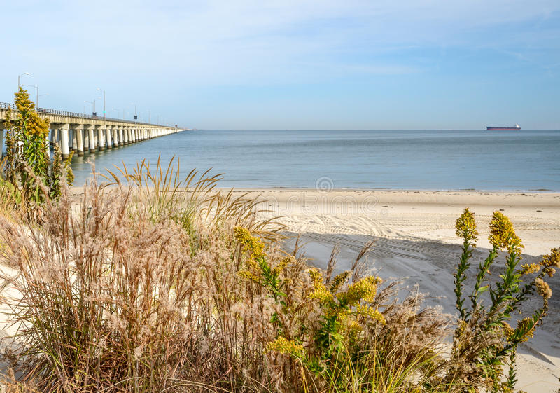 Chesapeake zatoki most zdjęcie stock