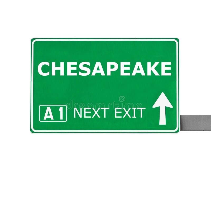 CHESAPEAKEvägmärke som isoleras på vit arkivbild