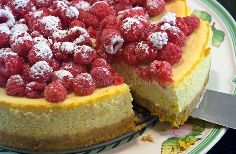 Chesecake de framboise et de citron images libres de droits
