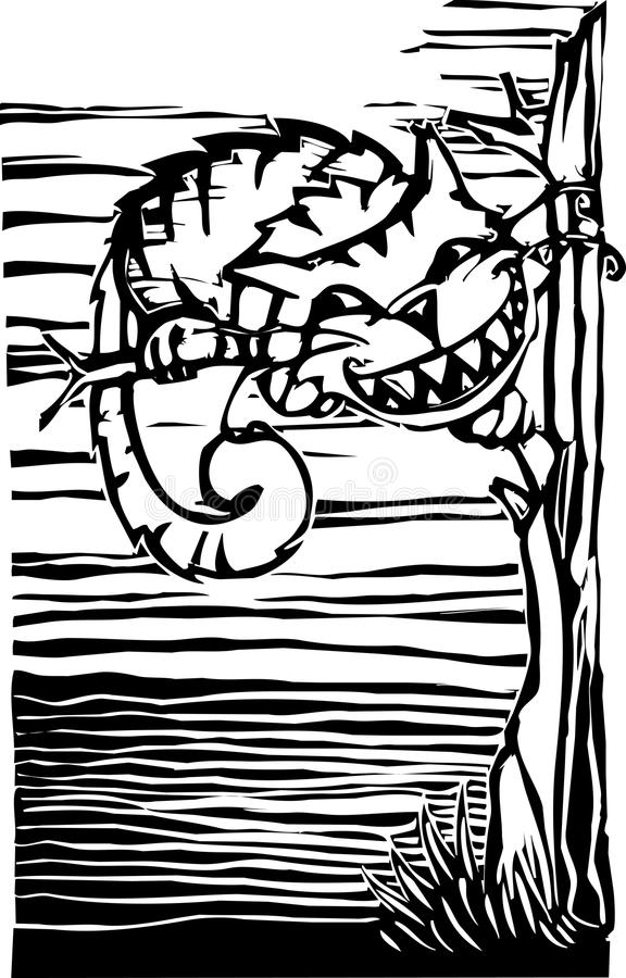 Cheshire Cat. From from Lewis Carroll's Alice in Wonderland royalty free illustration