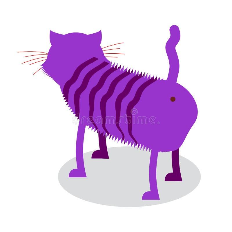 Cheshire Cat El animal doméstico fantástico está al revés Animal mágico de la feria libre illustration