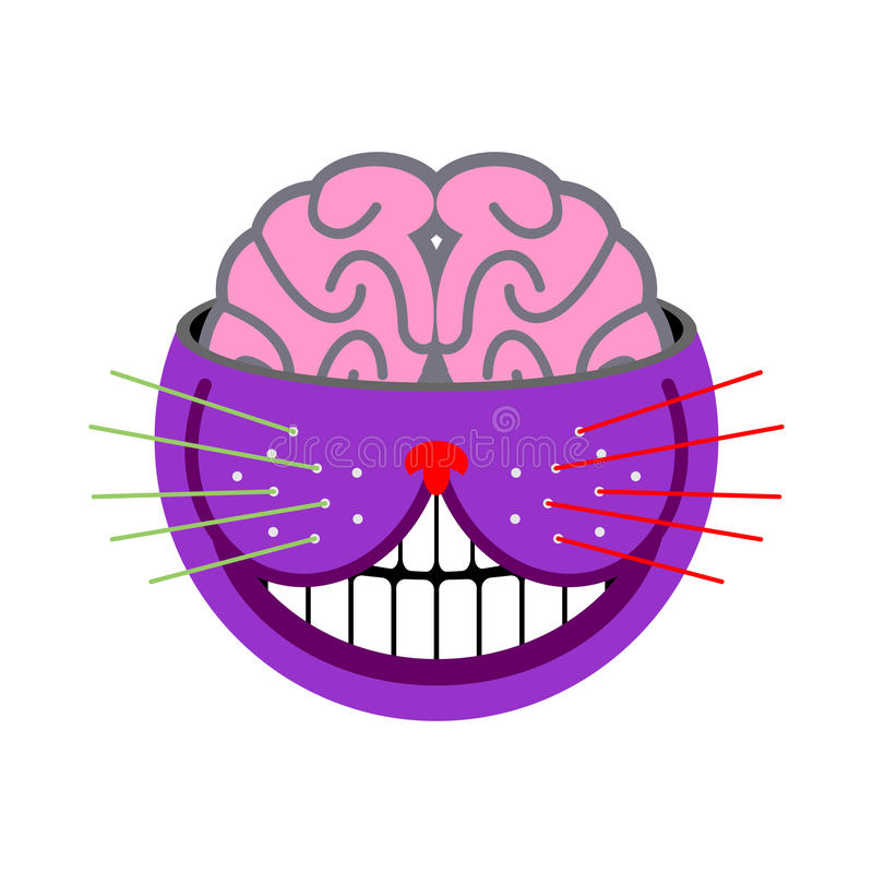 Cheshire Cat. Fantastic pet. Magic of animal tales Alice in Wond. Erland. Abstract beast stock illustration