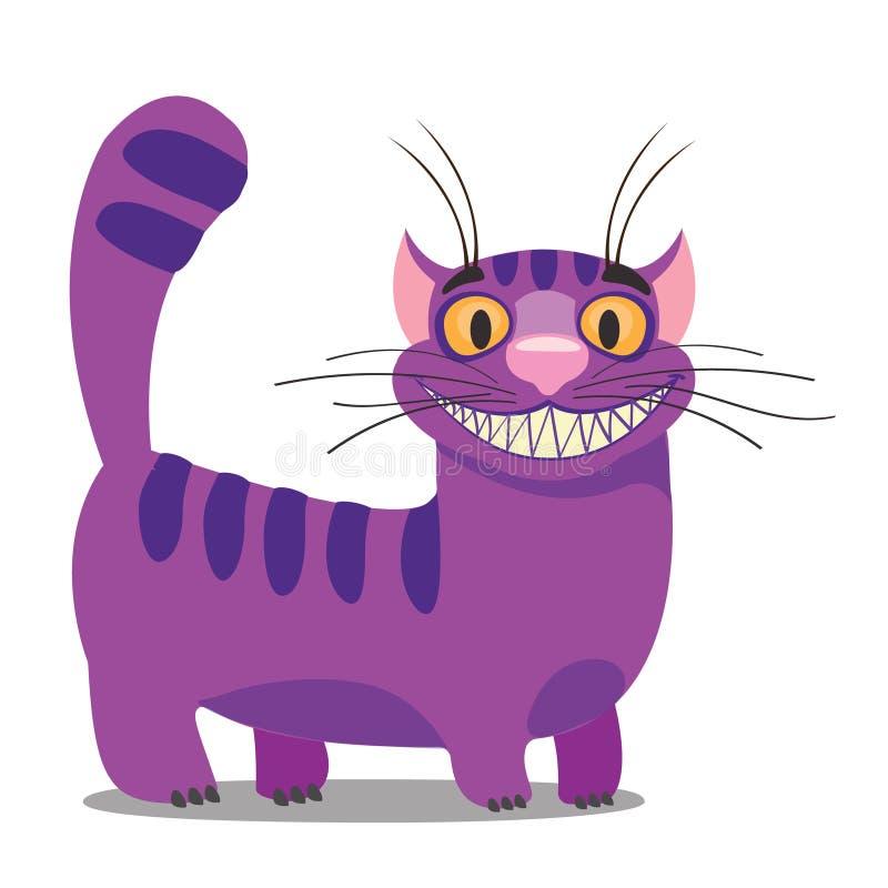 Cheshire Cat Ilustra??o ?s aventuras da Alice do conto de fadas no pa?s das maravilhas E ilustração stock