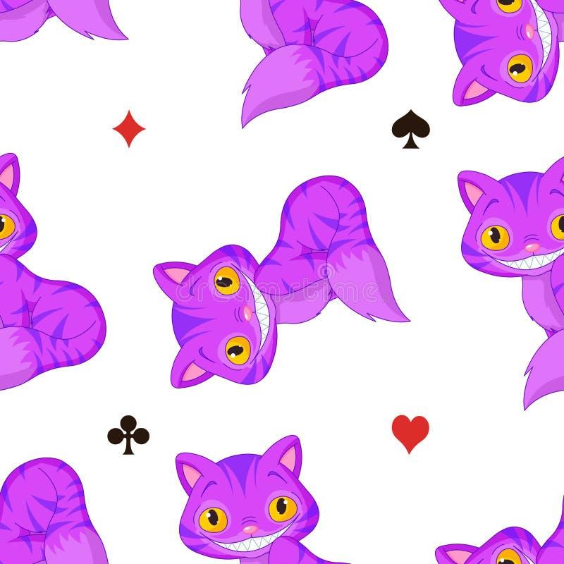 Cheshire Cat Pattern ilustración del vector