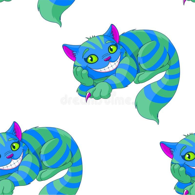 Cheshire Cat Pattern. Illustration of sitting Cheshire cat pattern royalty free illustration