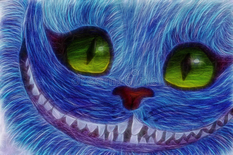 Cheshire Cat's smile. From Alice in Wonderland royalty free illustration