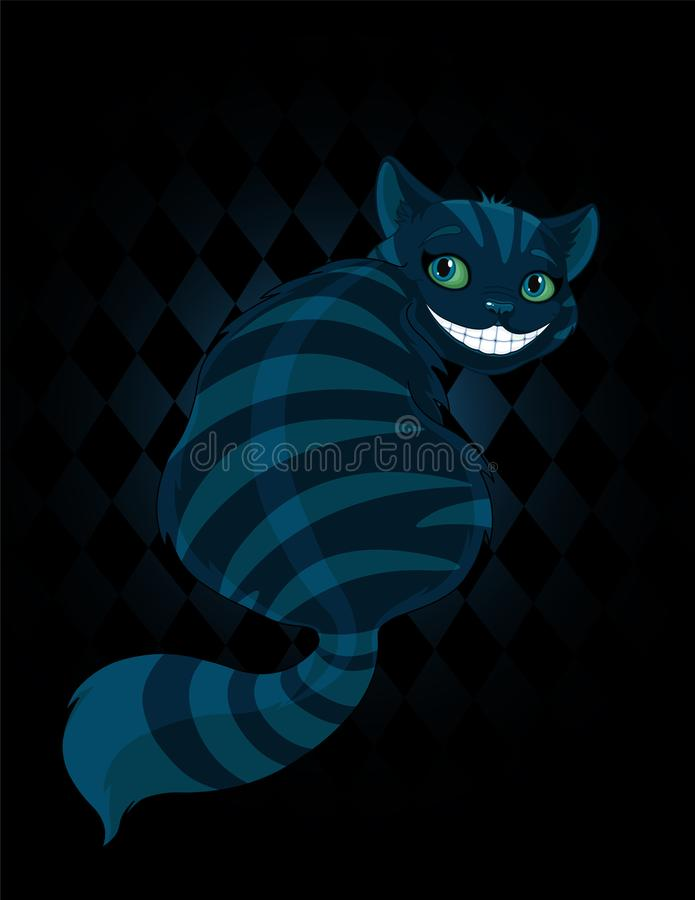 Cheshire Cat. Sitting and looking back royalty free illustration