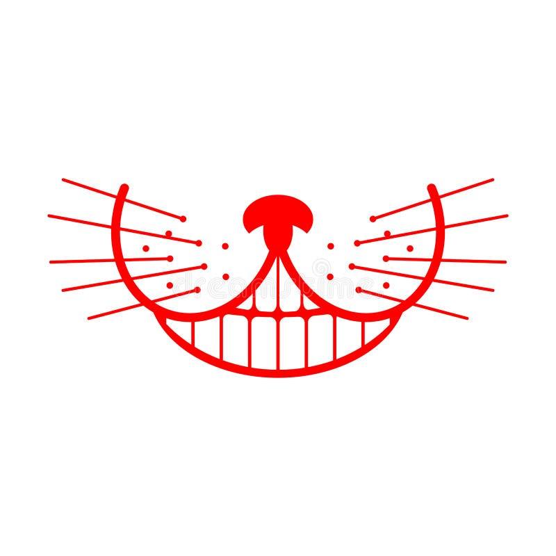 Cheshire cat smile. Animal Alice in Wonderland. Unusual pet.  stock illustration