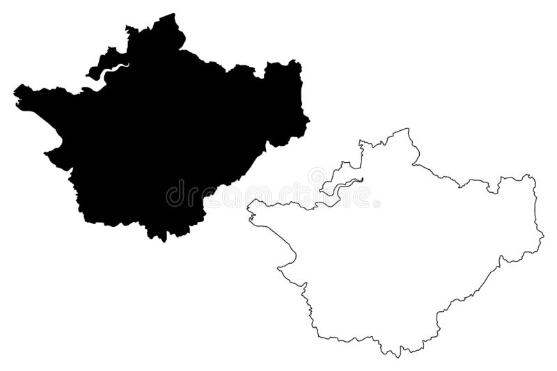 Cheshire map vector. Cheshire United Kingdom, England, Non-metropolitan county, shire county map vector illustration, scribble sketch County Palatine of Chester vector illustration