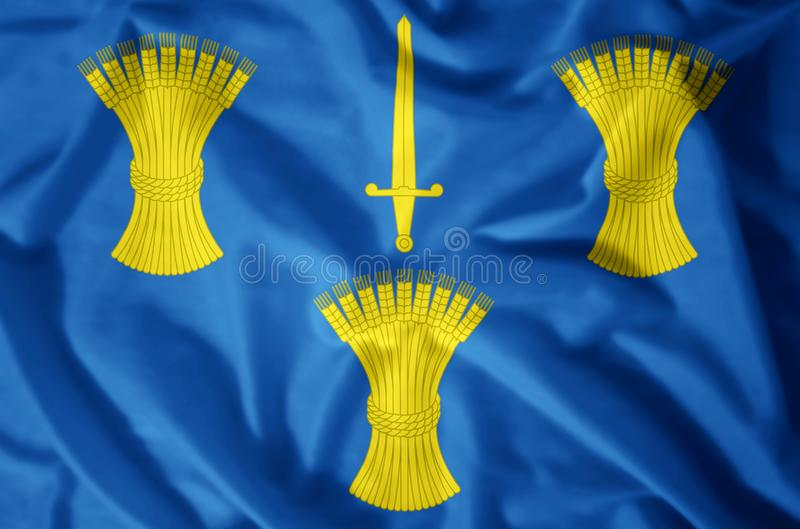 Cheshire. Stylish waving and closeup flag illustration. Perfect for background or texture purposes stock illustration