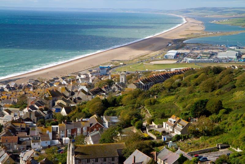 Chesil strand Dorset England royaltyfri foto