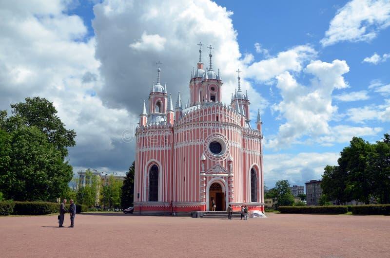 chesme教会彼得斯堡俄国圣徒 免版税库存图片