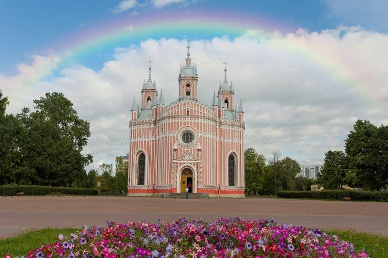 chesme教会彼得斯堡俄国圣徒 免版税库存照片