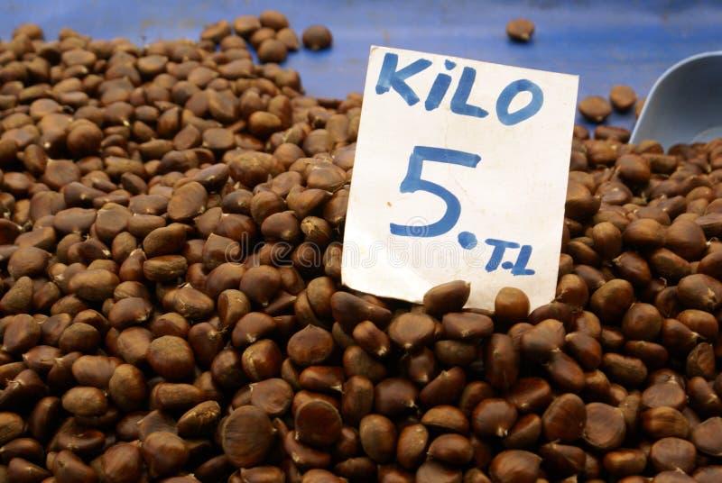 Chesnuts foto de stock