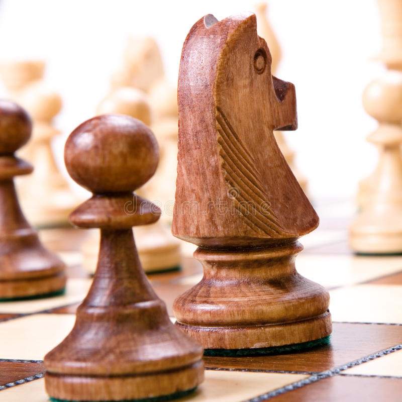 Download Chess stock image. Image of isolated, fight, pawn, wooden - 10613461
