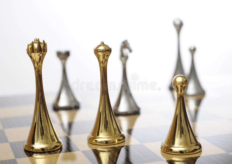 Chessboard with king in focus