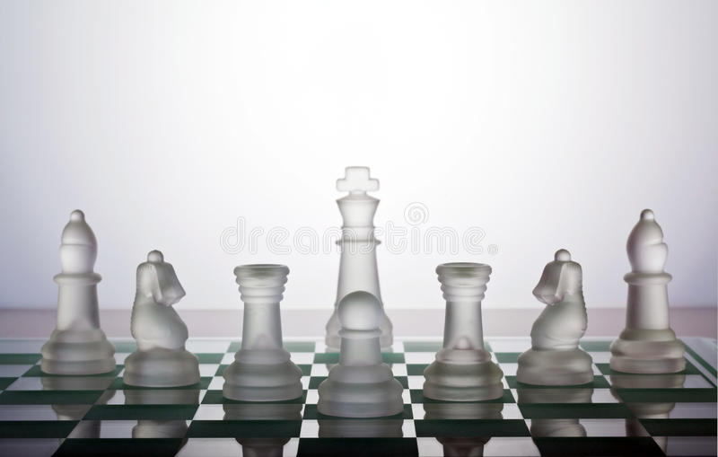 Chess. Pieces protecting the king
