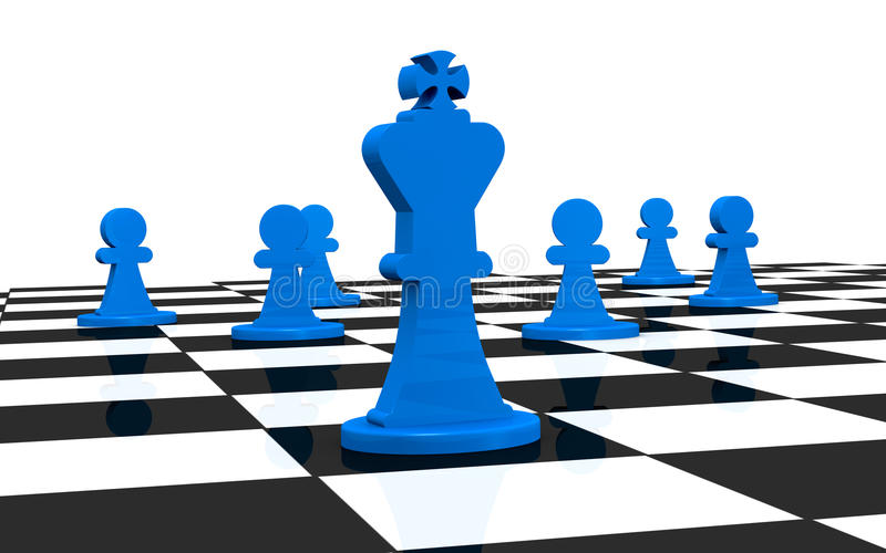 Download Chess stock illustration. Image of choice, leadership - 22198638