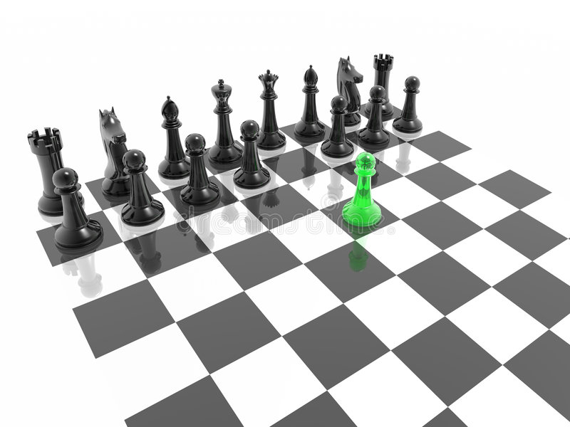 Download Chess stock illustration. Image of pieces, mirror, background - 3145794