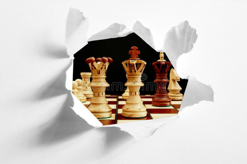 Download Chess stock image. Image of game, compete, king, paper - 9738075