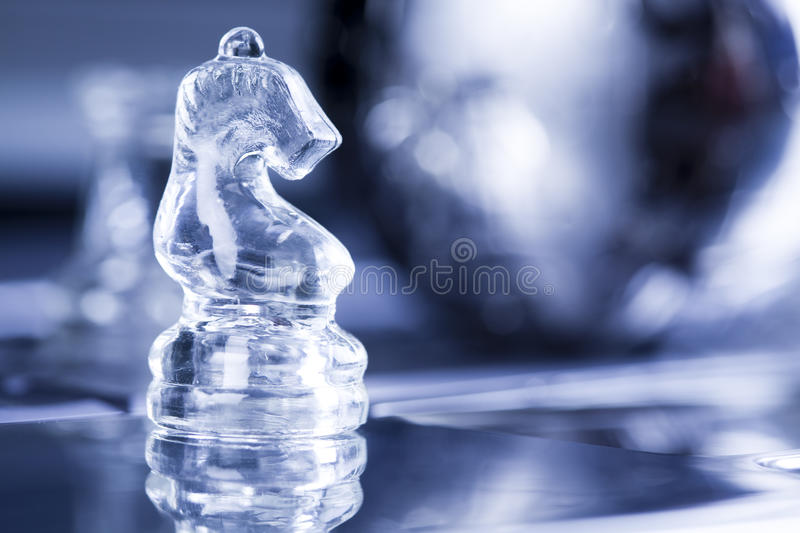 Chess. Notebook & puzzle earth chrome globe stock photo