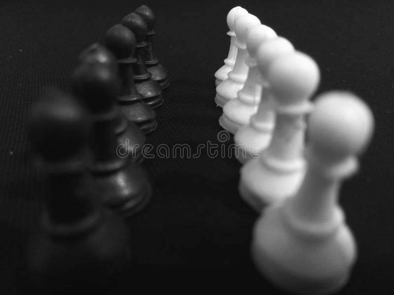 Chess armies. Challenge stock photography