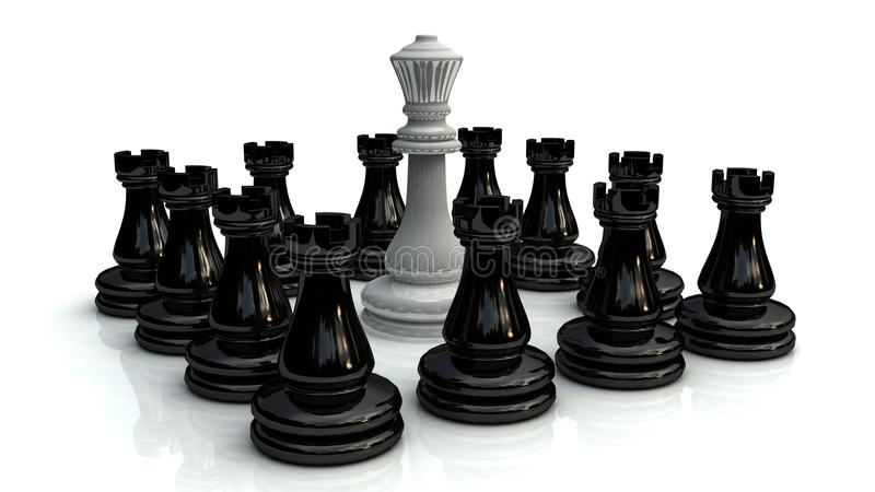 Download Chess battle 1 stock illustration. Image of attacking - 20401784