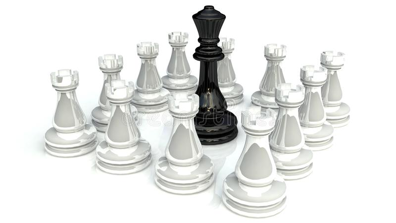 Download Chess battle 1 stock illustration. Image of attacking - 20401785