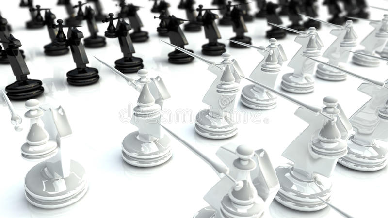 Download Chess battle 1 stock illustration. Image of tactics, attacking - 20401786